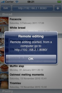 Remote editing on